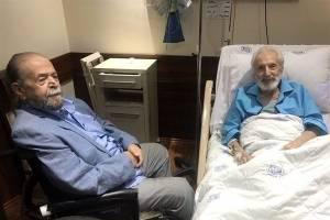 دیدار دو اسطوره سینمای ایران در بیمارستان (عکس)