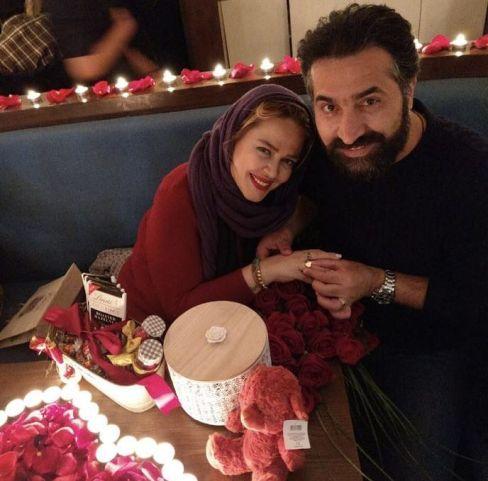 عکسهای عاشقانه بهاره رهنما و همسرش در روز ولنتاین