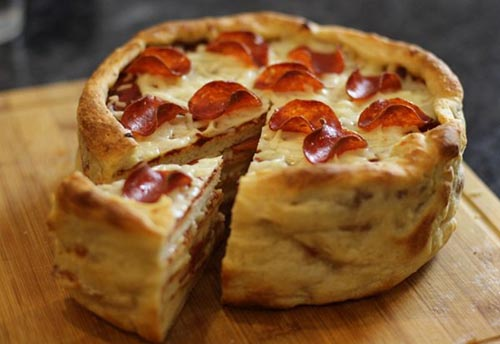 دستور تهیه دسر مجلسی کیک پیتزا (عکس)