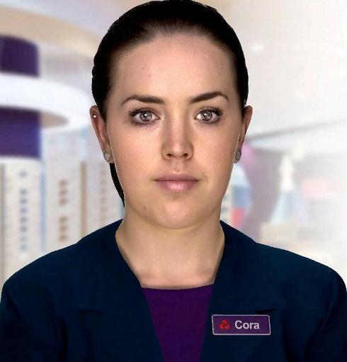 استخدام زن دیجیتالی زیبا در بانک مشهور (عکس)