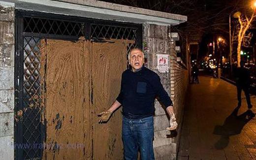 احمد نجفی در ساختمان سینما را گل گرفت (تصاویر)