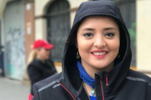 عکس هنری نرگس محمدی در کیش