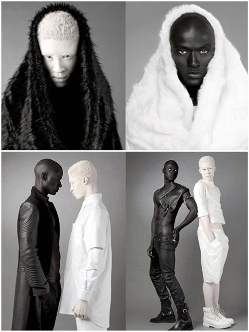 دو مدل با تیره ترین و روشن ترین رنگ پوست دنیا (تصاویر)