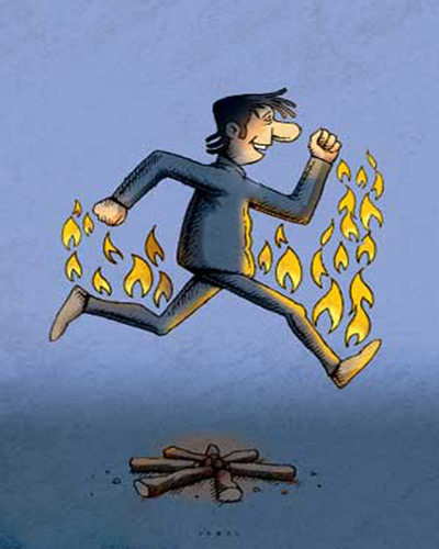 کاریکاتورهای جالب برای چهارشنبه سوری