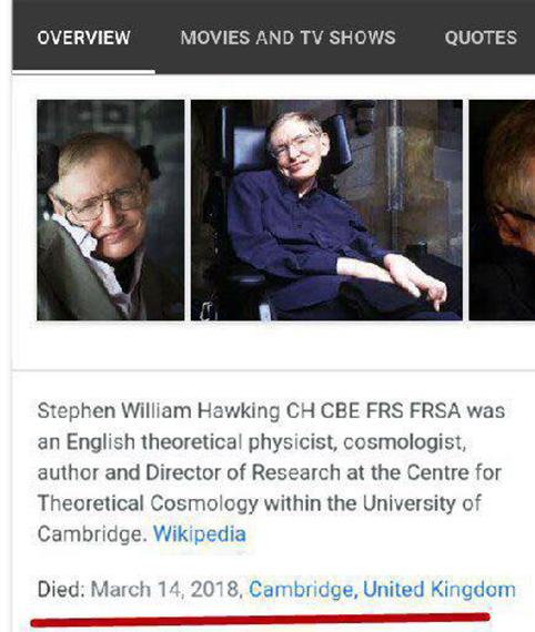 بیوگرافی و علت درگذشت استیون هاوکینگ دانشمند نابغه