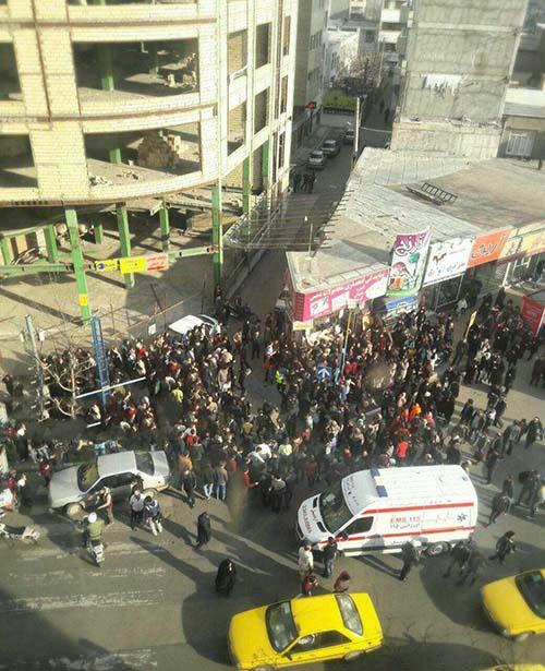 جزئیات و تصاویر خودکشی پسر اردبیلی در میدان شریعتی