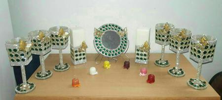 عکسهای مدلهای جدید تزیین ظروف هفت سین جواهر نما