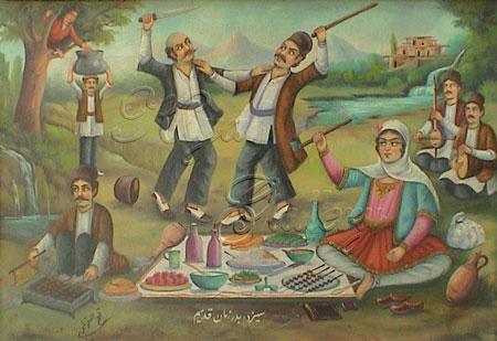 کارت پستال و عکس نوشته تبریک سیزده بدر
