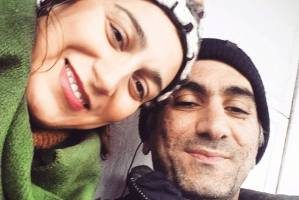 فلامک جنیدی بازیگر ایرانی دوقلو به دنیا آورد (عکس )
