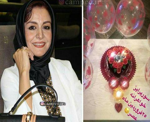 جشن تولد مریلا زارعی در کنار خواهرش (عکس)