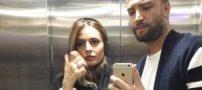 بنیامین بهادری و همسرش شایلی حرم امام رضا (عکس)