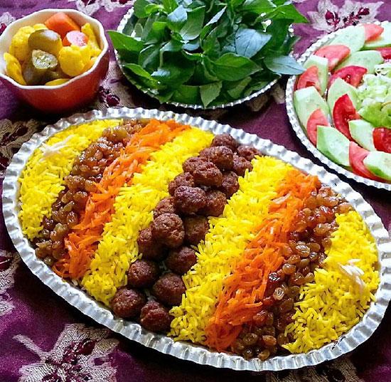 طرز تهیه غذای محلی خراسانی ساطری پلو