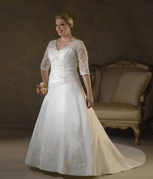 نکات مهم انتخاب لباس عروس سایز بزرگ (عکس)