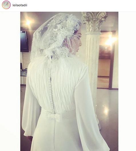 لیلا اوتادی ازدواج کرد (عکس لیلا اوتادی با لباس عروس )