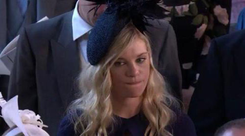 قیافه نامزد سابق پرنس هری در مراسم عروسی وی (عکس)