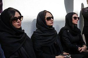 تصاویر بازیگران مشهور در تشییع ناصر ملک مطیعی