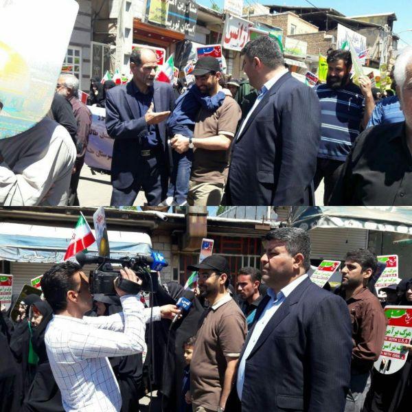 تیپ جالب وزیر ارتباطات در راهپیمایی روز قدس