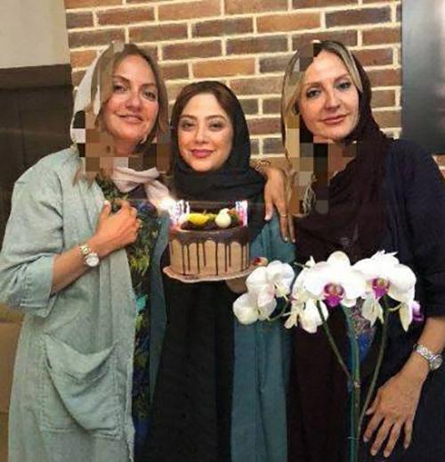 جشن تولد مهناز افشار در کنار خواهرش و مریم سلطانی