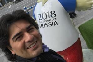 سامان احتشامی و همسرش در افتتاحیه جام جهانی روسیه (عکس)