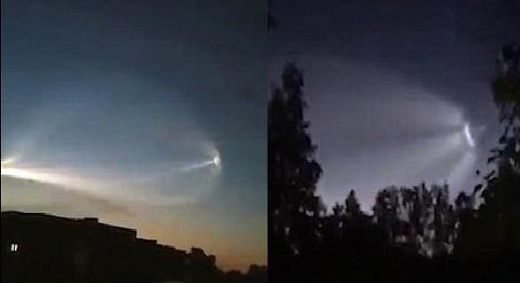 مشاهده نور عجیب در آسمان روسیه هنگام بازیهای جام جهانی (عکس)