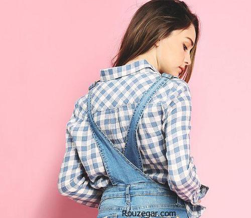 مدل های جدید لباس های سرهمی لی دخترانه