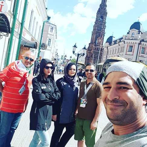 گردش یوسف تیموری و دوستانش در روسیه (عکس)