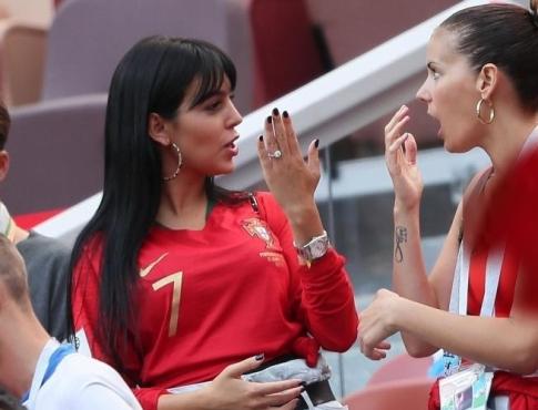 حرکات عجیب دوست دختر رونالدو در جام جهانی روسیه