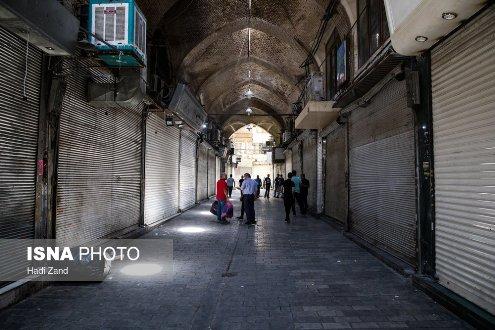 تصاویر اعتراض و اعتصاب کسبه بازار تهران