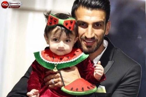 گردش حسین ماهینی و همسر و فرزندش (عکس)