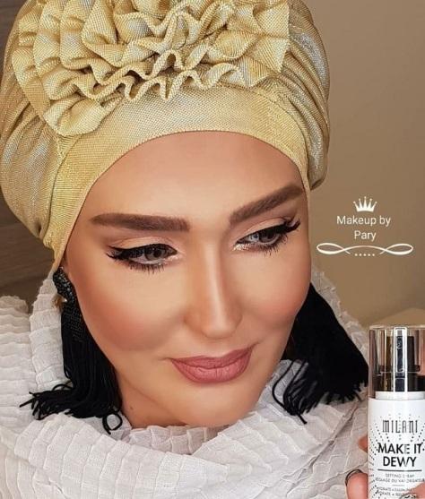 جنجال عکسهای خانم بازیگر ایرانی با آرایش غلیظ