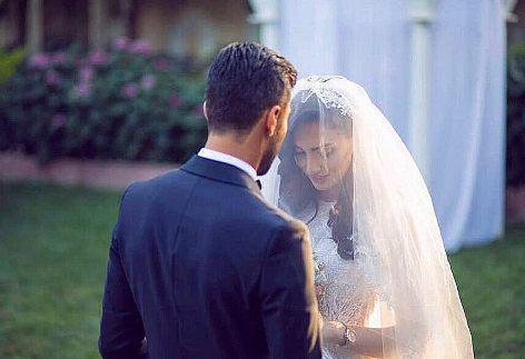 عکس مراسم ازدواج کاوه رضایی فوتبالیست و فرنوش شیخی