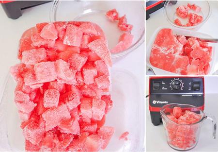 روش تهیه یخ در بهشت هندوانه