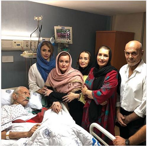 پشت پرده عکس بازیگران با جمشید مشایخی در بیمارستان