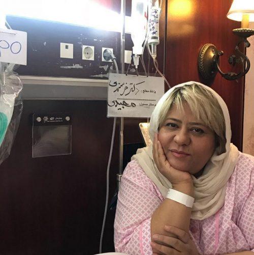 بستری شدن رابعه اسکویی در بیمارستان (عکس)