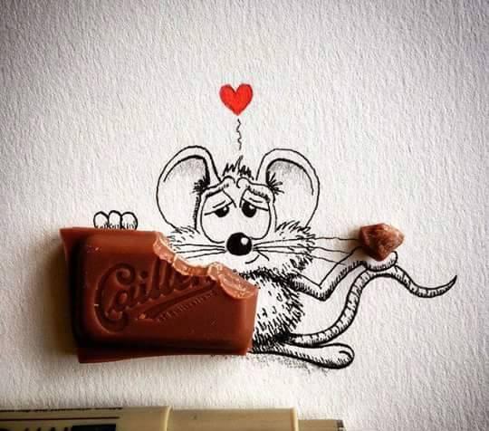 هنرنمایی و نقاشی های خارق العاده با موش