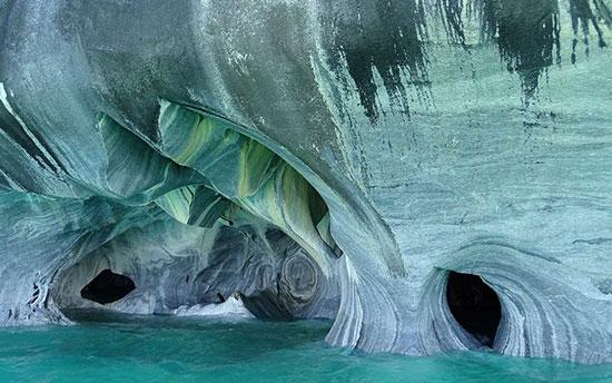 غار مرمر در شیلی،زیباترین مکان ها،عکس،مکان های زیبا،چشم اندازها و مناظر زیبا