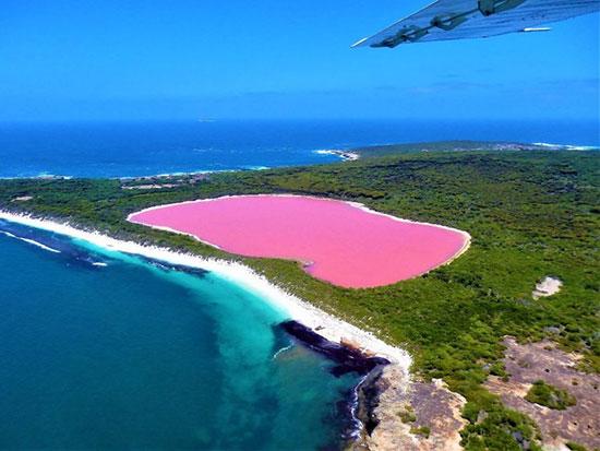 دریاچه هلیر در استرالیا،زیباترین مکان ها،عکس،مکان های زیبا،چشم اندازها و مناظر زیبا