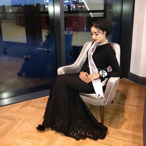 سارا افتخار در مسابقه دختر شایسته انگلستان (عکس)