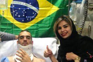 لئوناردوی برزیلی و همسرش در عزاداری محرم (عکس)