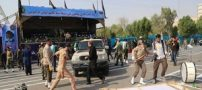 واکنش مقامات در جایگاه رژه در لحظه حمله تروریستی