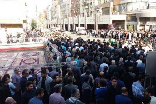 تصاویر مراسم تشییع شهدای حادثه حمله به رژه در اهواز