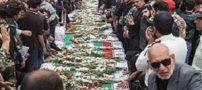 تابوت کوچک ترین شهید حادثه رژه در اهواز(عکس)