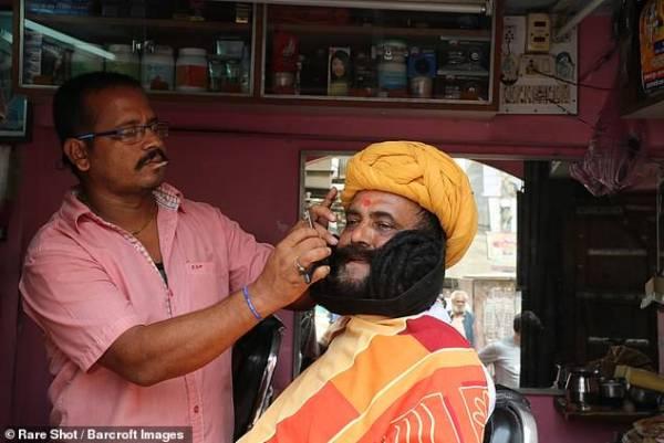بلند ترین ریش دنیا متعلق به این مرد هندی است (عکس)