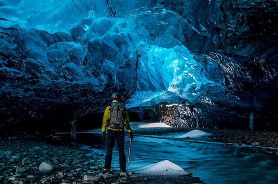 غارهای کریستالی در ایسلند،زیباترین مکان ها،عکس،مکان های زیبا،چشم اندازها و مناظر زیبا