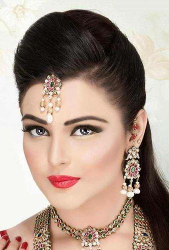جدیدترین مدل میکاپ، آرایش و شینیون 2018 به سبک هندی ایرانی
