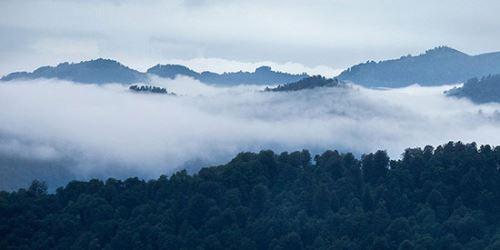 عکس های بهشتی بالای ابرها! اولسبلنگاه بکرترین روستای شمال