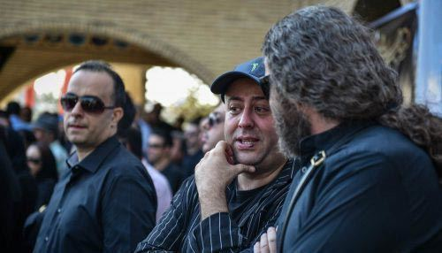 چهره های معروف در مراسم خاکسپاری حسین عرفانی