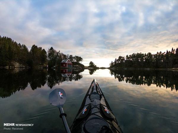 عکس های شگفت انگیز از دریاچه های نروژ با کایاک