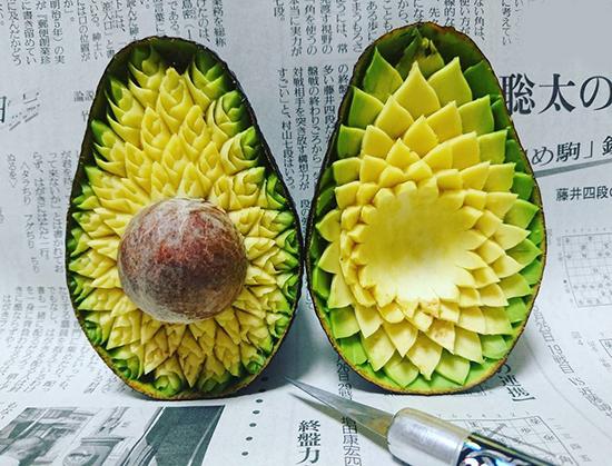 عکس های بی نظیر از حکاکی روی میوه