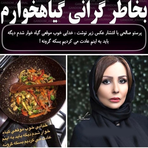 عکس و متن کوبنده پرستو صالحی به وضعیت گرانی
